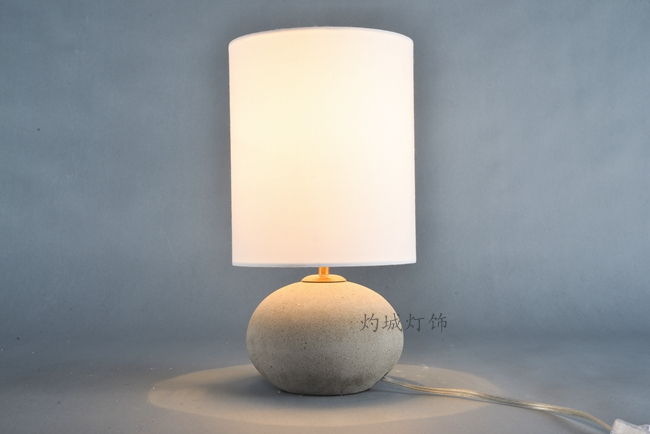 Die nordic minimalistische tischleuchten moderne zement lampe