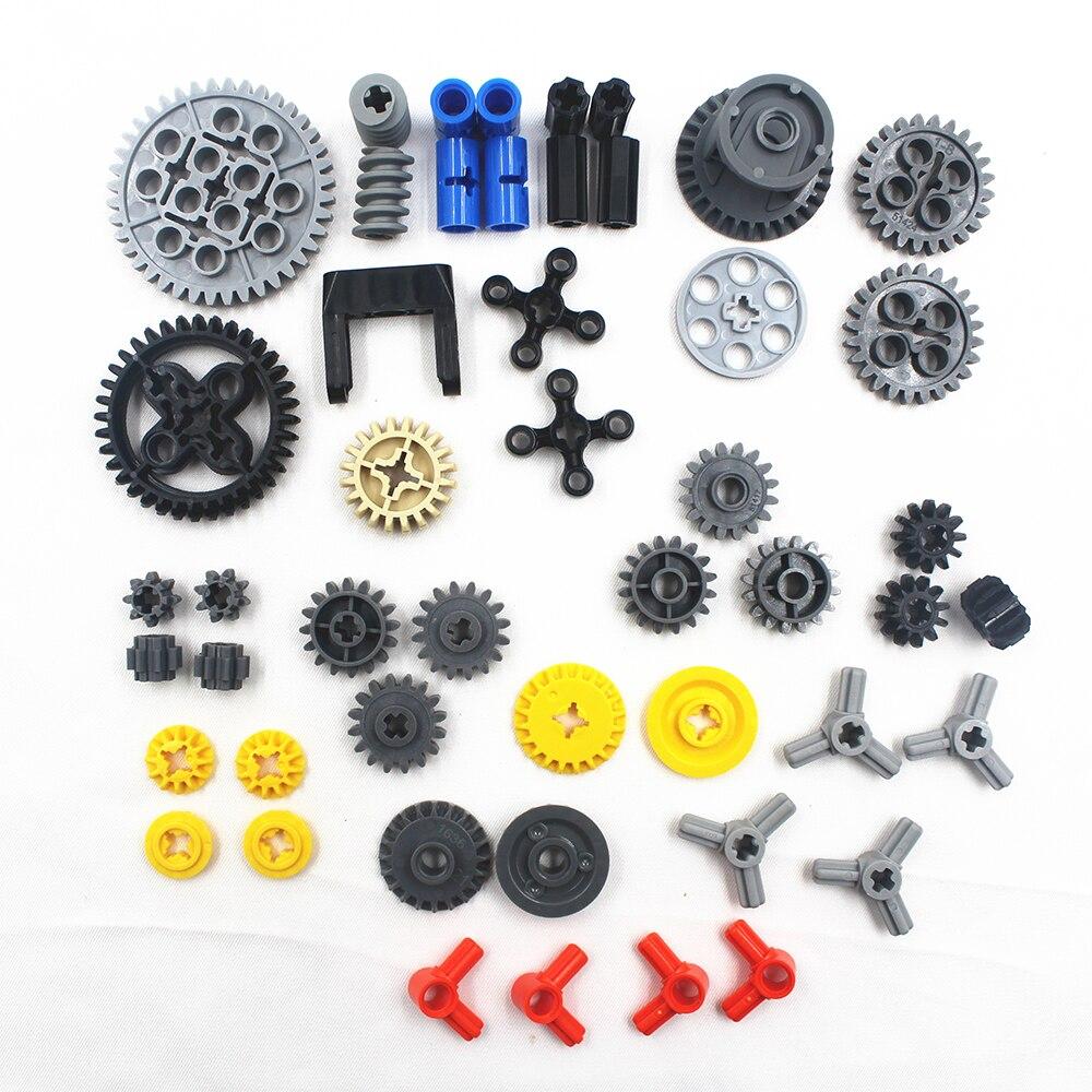 49 pièces/lots série technic pièces modèle de voiture blocs de construction ensemble compatible avec lego pour enfants garçons jouet briques de construction engrenages (lot de 49)