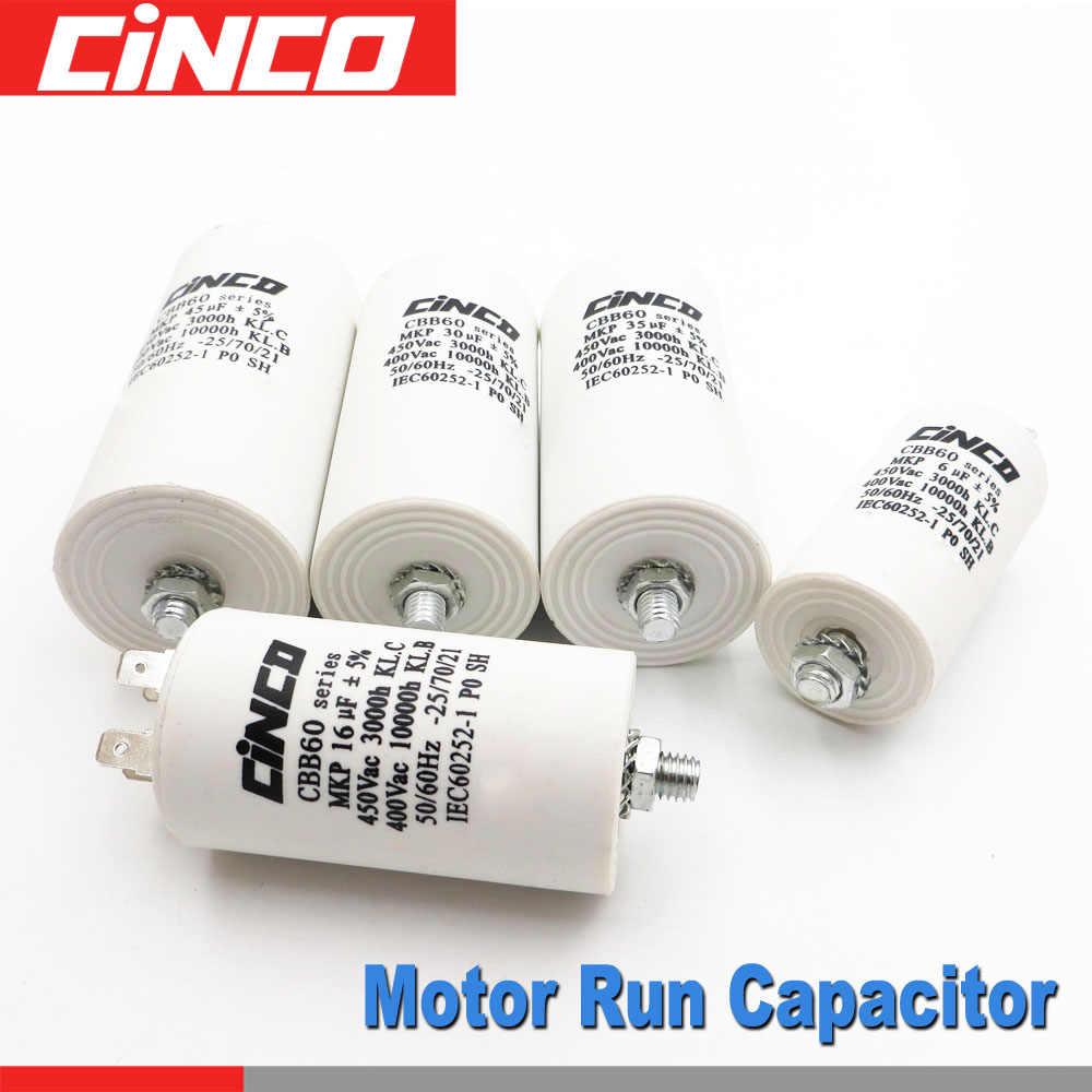 Universal Start and Run Motor Capacitor 450vac 50//60 Hz 4 7 8 12.5 16 20 25 UF