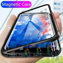 360 Магнитная адсорбции чехол для телефона для iPhone X XS MAX 6 7 8 плюс закаленное Стекло назад Магнит крышка samsung Galaxy S9 S8 плюс