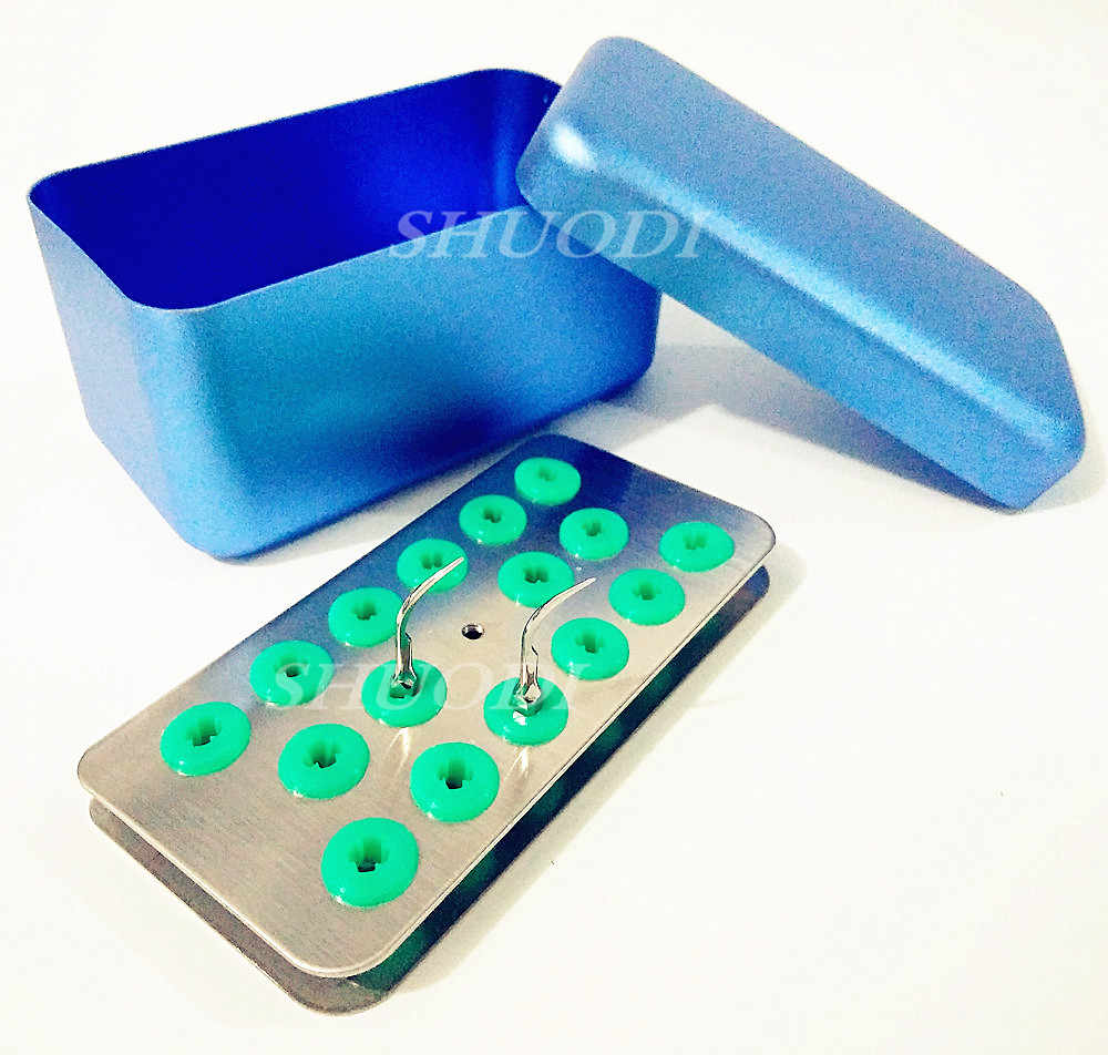 Dental Sterilize 16 Holes Endo Box Case for Ultrasonic Sonic Scaler Tips Working Tips Disinfection