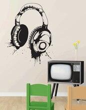 Słuchawki naklejki ścienne winylowa naklejka na ścianę odpinany plakat home artystyczny design dekoracji 2YY4
