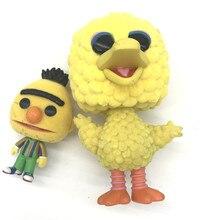 AOSST Sesame Street model toy Big Bird BERT Vinyl Figure Classic collection toys for children's gifts NO BOX aosst sesame street model toy big bird bert vinyl figure classic collection toys for children s gifts no box