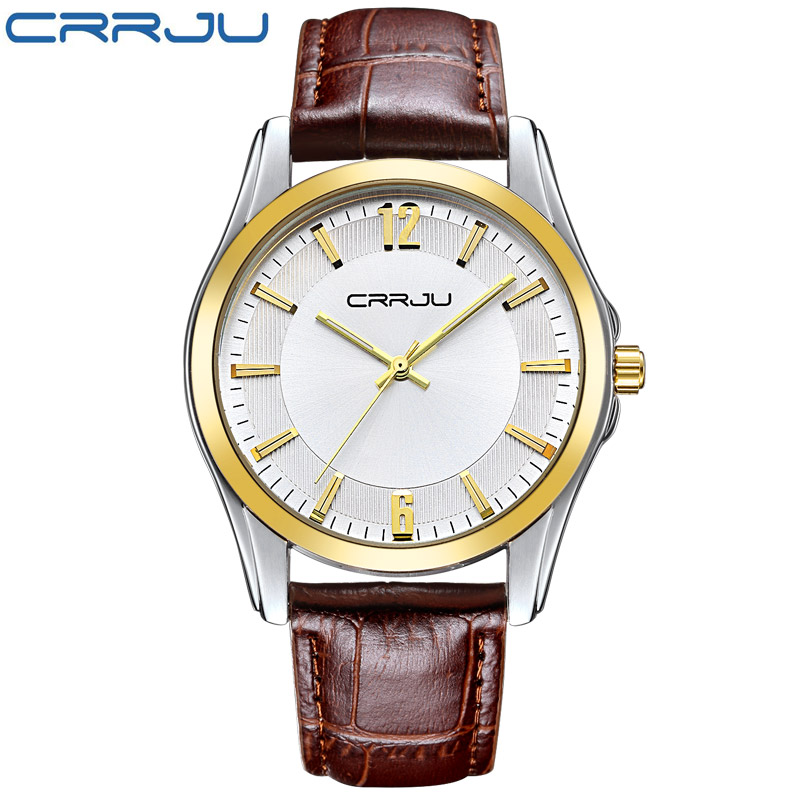 Quartz Watches Watches Fashion Men Alloy Case Synthetic Leather Analog Quartz Sport Watch Mens Watches Top Brand Luxury Masculino Reloj Crrju
