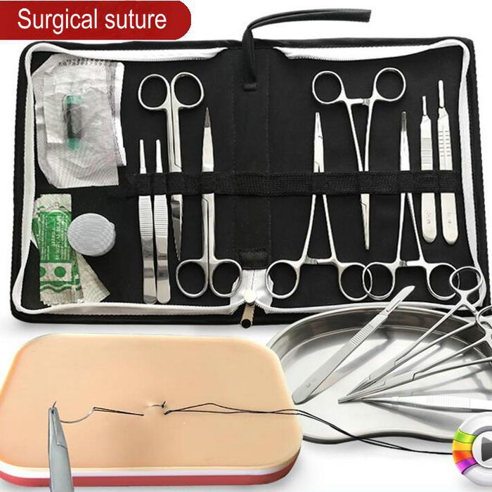 8/12/15/20 pcs/ensemble 14 cm suture Chirurgicale outils, fonctionnement formation instrument outil kit pour Médical/scientifique/Étudiants