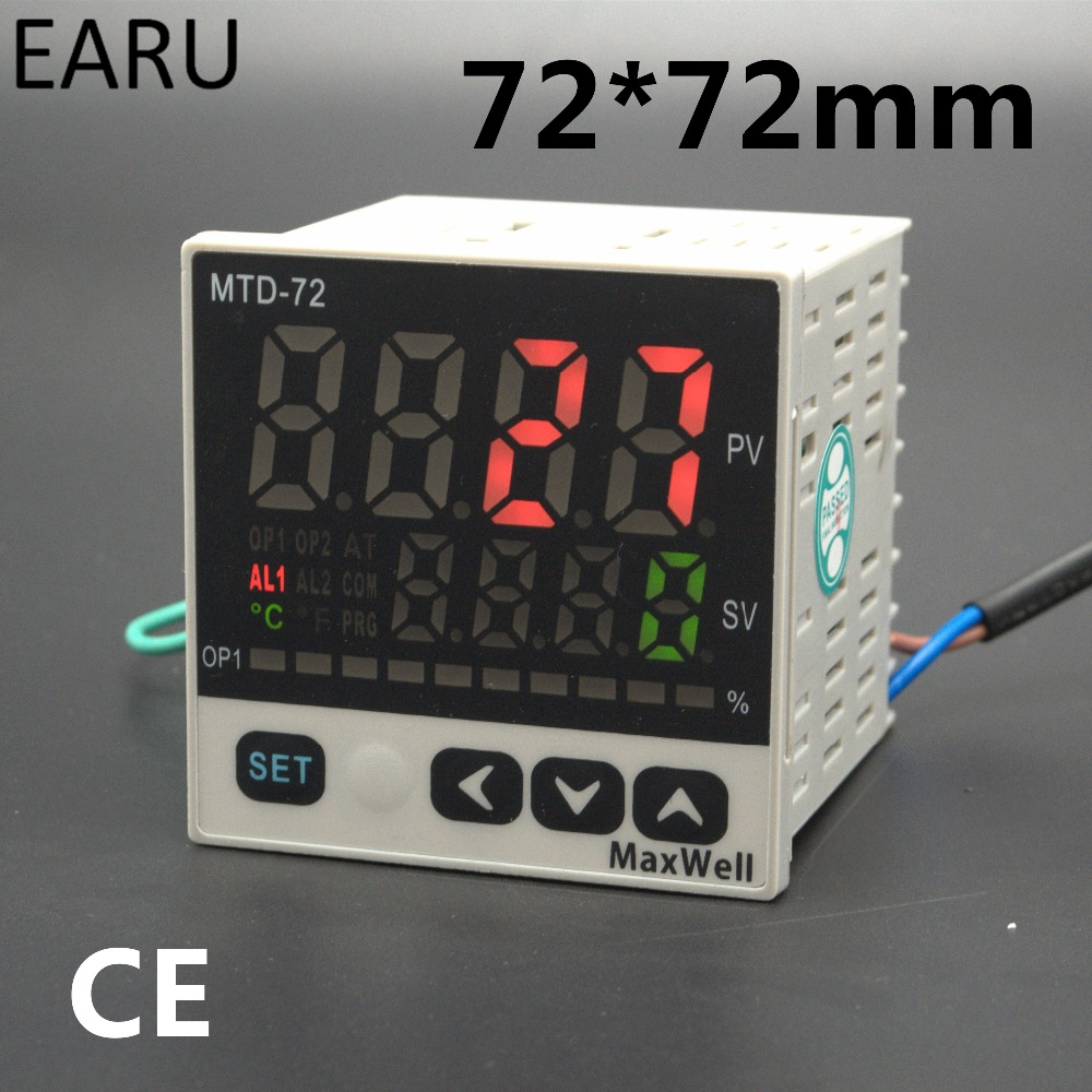 72*72mm Digital Temperature Controller Control AC85-265V Power Thermocouple Universial K J PT100 Input SSR+Relay / 4-20mA Output