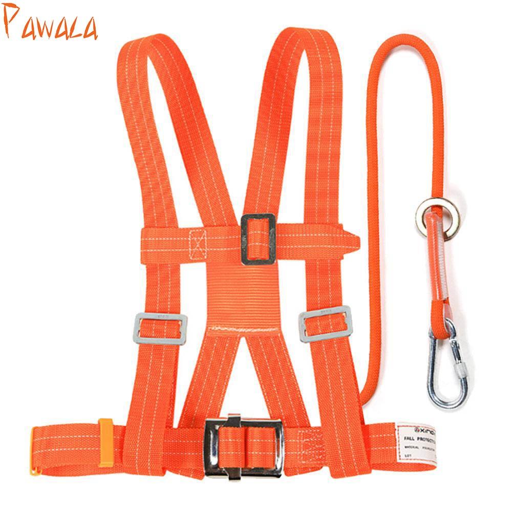 2 piezas de correa de asiento de cuerda de escalada al aire libre Rock Lanyard construcción chaleco de seguridad de alta resistencia Cable de Camping accesorio de senderismo