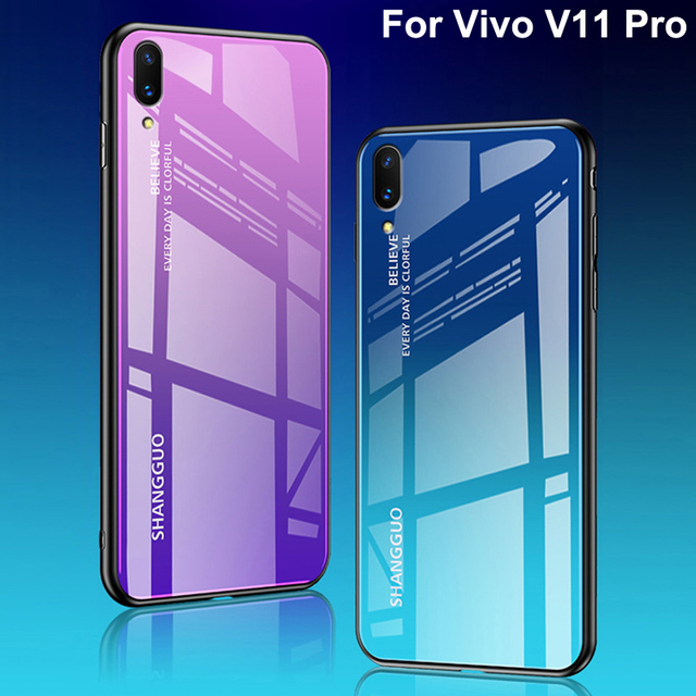 watch 98f09 b5b0b US $9.53 19% OFF|For Vivo V11 Pro Case Tempered Glass Luxury Gradient Soft  Silicone Frame Back Cover For Vivo V11Pro v 11 Pro Phone Cases shell-in ...