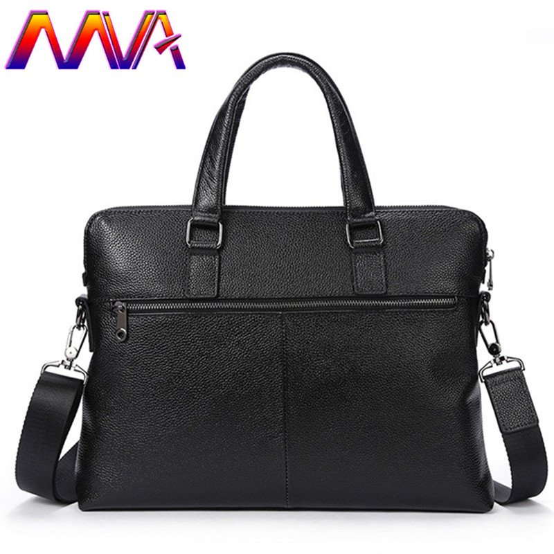 MVA 2018 Newly genuine leather men briefcase with cow leather men crossbody bag men shoulder bag for 14 inch laptop bags mva men s briefcase leather laptop bag 14 genuine leather men bag men messenger shoulder bags men s crossbody bags handbags