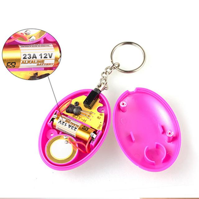 Self Defense Alarm 120db Egg Shape Girl Women Security Protect Alert Personal Safety Scream Loud Keychain Emergency Alarm