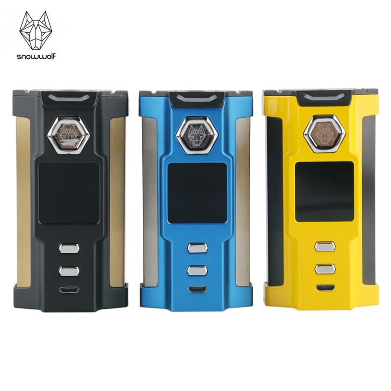 цены SNOWWOLF Vfeng 230W TC Box Mod Sigelei Box Mod Kit 230w Mod Electronic Cigarette Mod TFT Touch Screen Vape