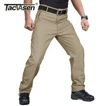 Мужские Зимние флисовые брюки TACVASEN с множеством карманов, военные тактические брюки, боевые брюки, брюки для страйкбола и охоты