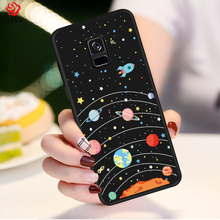 ASINA Silicone Case For Samsung Galaxy A8 2018 Cute Cartoon Plus Cover Funda Shockproof Bumper Coque