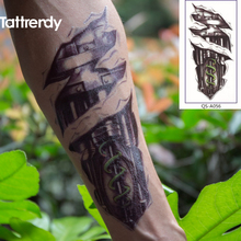 Robot Machine Arm Temporary Body Art Flash Tattoo Stickers 3D 11x21cm Waterproof Henna Shoulder Style Sex Products A056