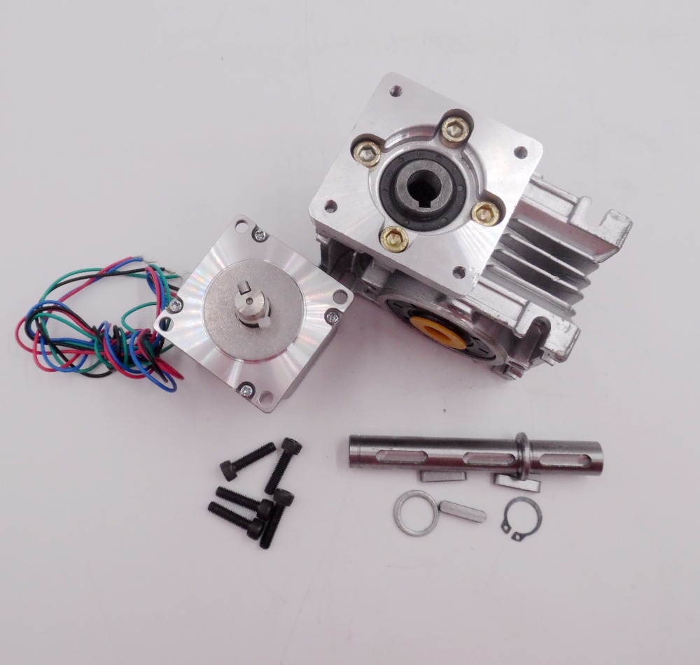 Nema23 worm gear stepper motor rv30 ratio 10 1 self lock for Stepper motor gear box