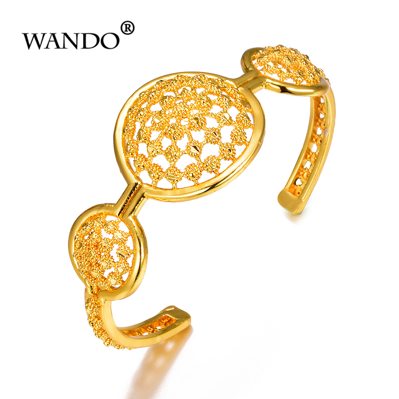 WANDO Newest Fashion classic Bangle Bohemian Vintage Turkish Antalya Gypsy Beach Chic Festival Button Coin Bracelet wb146