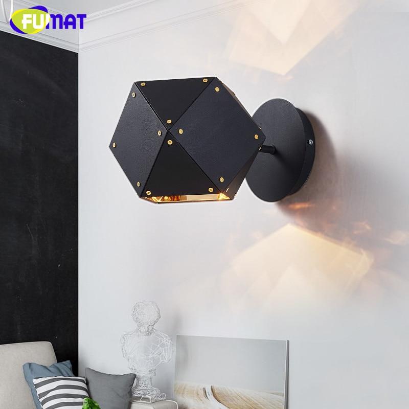 fumat wells wall lamps dna design bedside lamp black metal bathroom light modern stair lighting fixtures