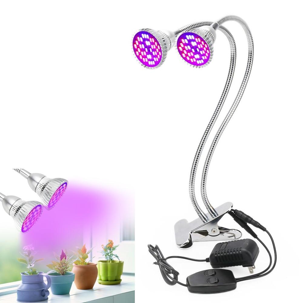 Full Spectrum LED Grow Light 360 Degree Flexible Adjustable Lamp Holder Clip LED Plant Growth Light for Indoor Desktop Plants xgear 360 rotary desktop flexible neck clip holder for 3 5 6 3 cell phones white green 85cm