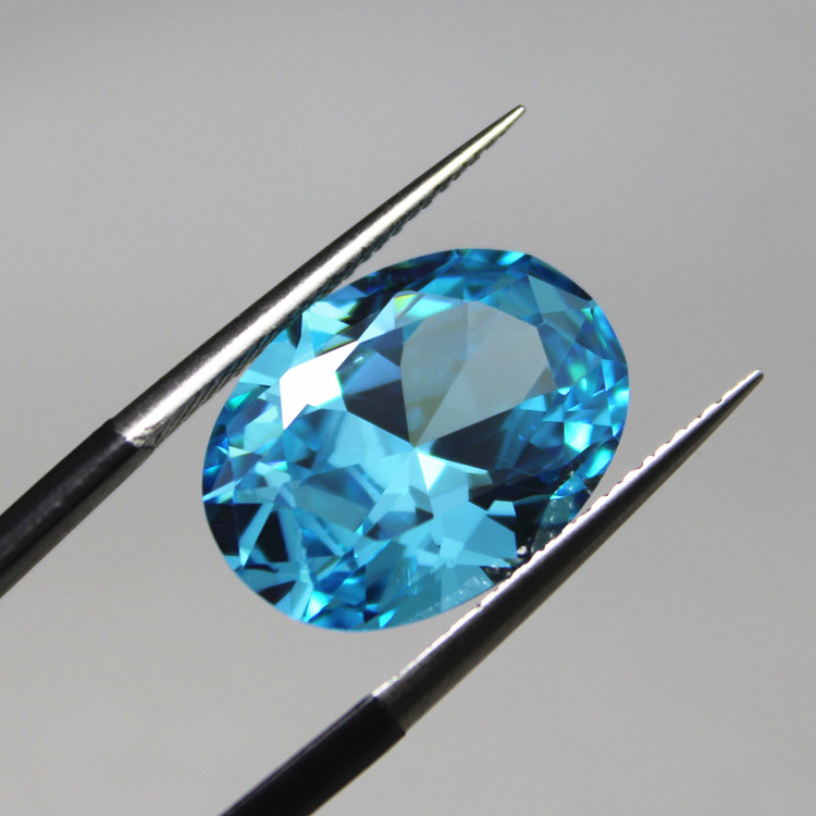 Buy oval shape sea blue created for Birthstone beads for jewelry making