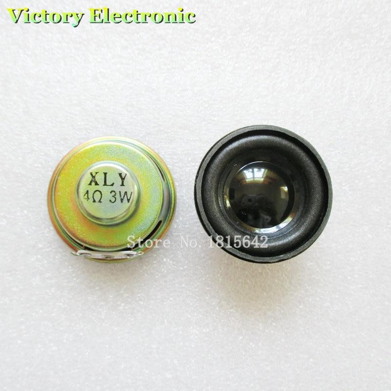 2 pièces/lot haute qualité haut-parleur corne 3W 4R diamètre 4CM Mini amplificateur joint en caoutchouc haut-parleur trompette
