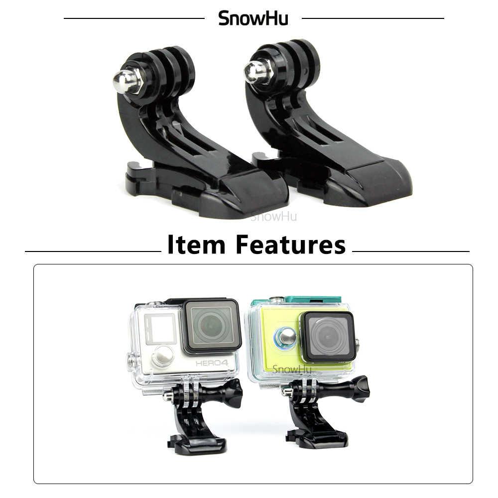 SnowHu j-hook montaje de superficie de la hebilla para Gopro accesorios 2 uds para GoPro Hero 8 7 6 5 4 Xiaomi Yi SJCAM SJ4000 Cámara de Acción GP20