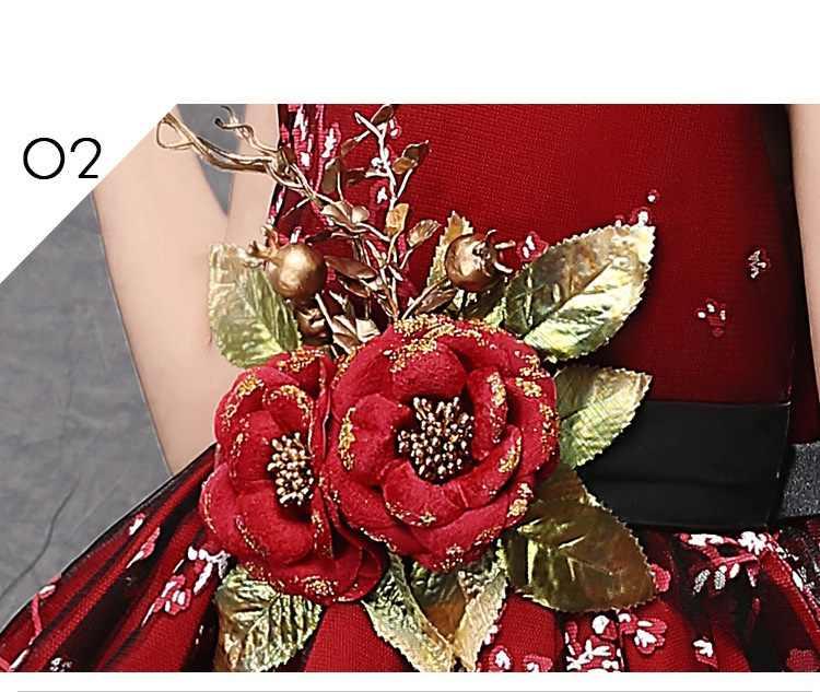 エレガントなフラワーガールドレス plum 花子供ウェディングパーティードレス服初聖体プリンセス夜会服 vestido