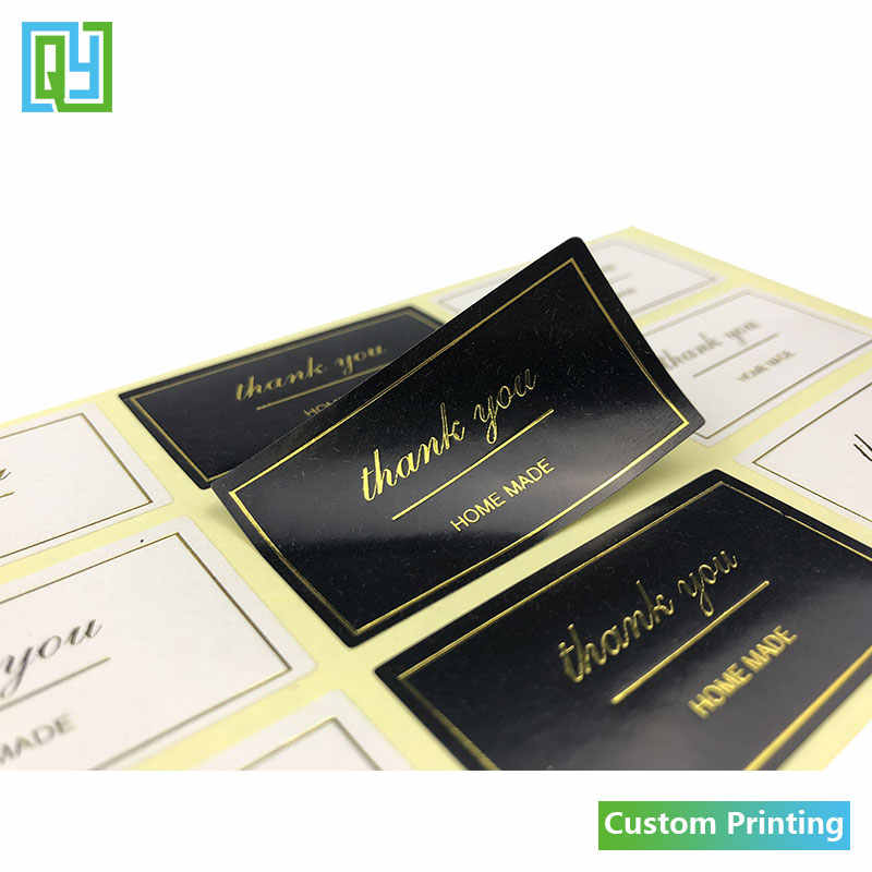 100pcs 50x25mm free shipping hot sale gold foil hot stamping