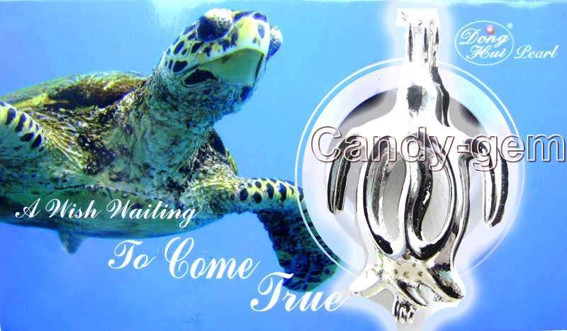 SALE Popular Gift One Box Turtle pendant Wish Pearl Necklace set A wish waiting come true-3622_14 Wholesale/retail