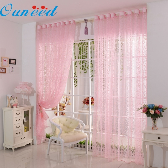 Ouneed TOP Grand Curtain Style Silver Silk Curtain Living Room/Door ...