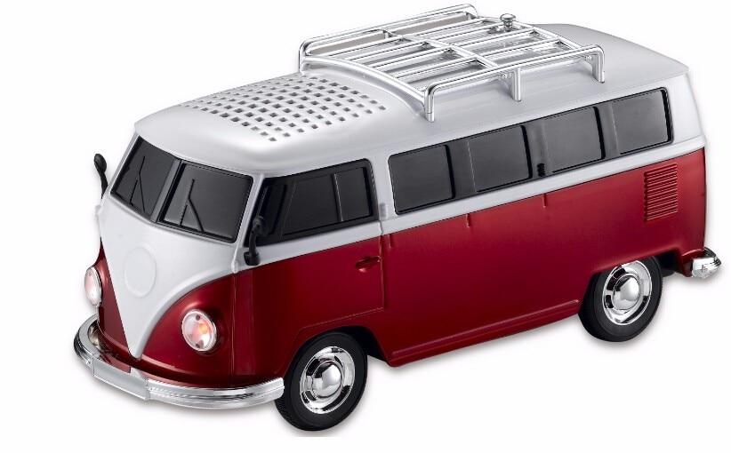WS-266 Colorful Mini Speaker Car Shape Mini Bus Speaker Sound Box MP3++U Disk+TF+FM Function