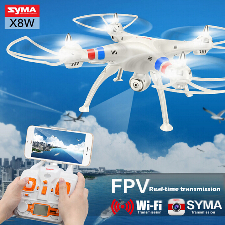 100% Original Syma X8C Venture X8W WiFi Real time Video 6-Axis FPV 2MP HD CAM Helicopter ...