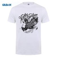 GILDAN T Shirts USA Harley Eagle Indian Vintage Men S Clothes Short Sleeve Heavy Metals T