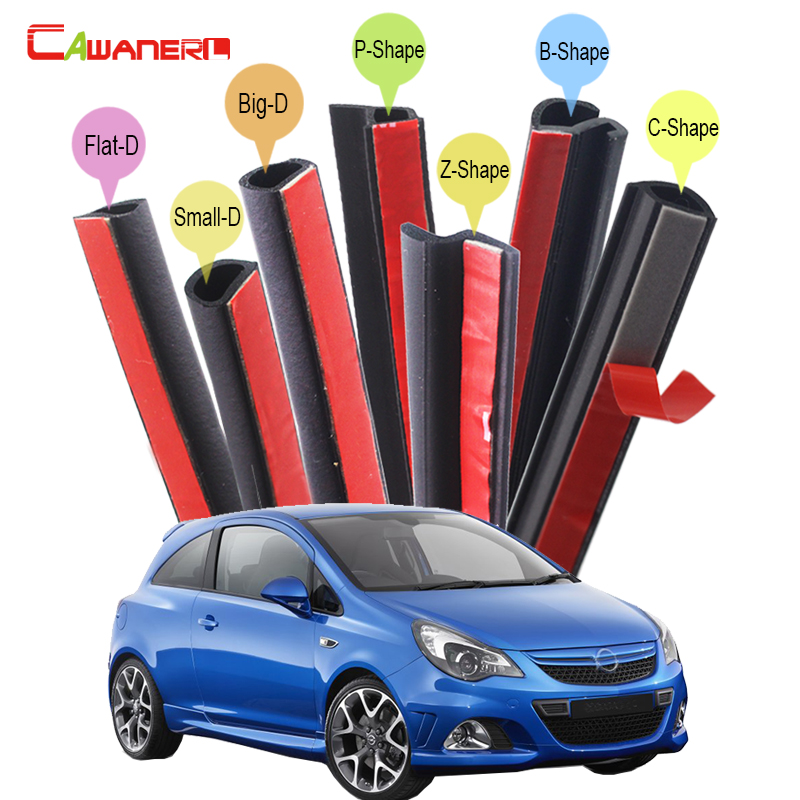 Cawanerl Car Rubber Sealing Seal Strip Kit Noise Control Seal Edge Trim Weatherstrip For Opel Signum Corsa Meriva Agila Omega cawanerl car rubber seal strip kit noise insulation seal edge trim weatherstrip self adhesive for jeep compass patriot liberty