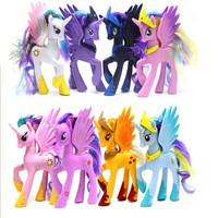 2pcs Set 14cm My Anime Toy Collection Princess Celestia Luna Nightmare Night Little Cute Unicorn Rarity