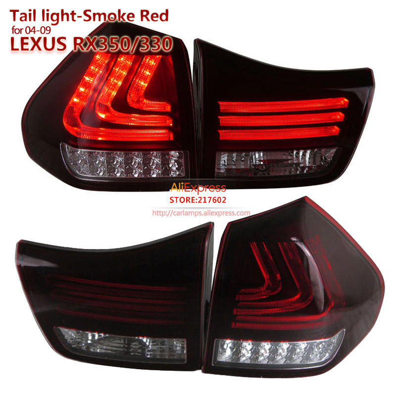 SONAR brand for Lexus RX330 RX350 LED Tail Rear lights Assembly fit for 2004-2009 car Smoke Red LED brake light for lexus rx gyl1 ggl15 agl10 450h awd 350 awd 2008 2013 car styling led fog lights high brightness fog lamps 1set