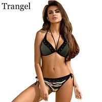Trangel Bikini 2017 Women Swimwear Bandage Bikini Set Sexy Push Up Swimsuit Bathing Suit Brazilian Bottom