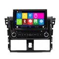 Auto De Áudio E Vídeo Para TOYOTA VIOS 2014 dvd do carro Do Bluetooth câmera traseira de Navegação Rádio Bluetooth Steering Wheel Control IPOD USB