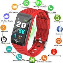 цена BANGWEI New Smart Watch Men Women Heart Rate Blood Pressure Monitor LED Color Screen Fitness Tracker Sport Watch for ios android онлайн в 2017 году