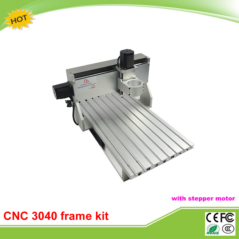 Nouveau design mini CNC 3040 CNC routeur tour cadre assemblé moteur et fin de course
