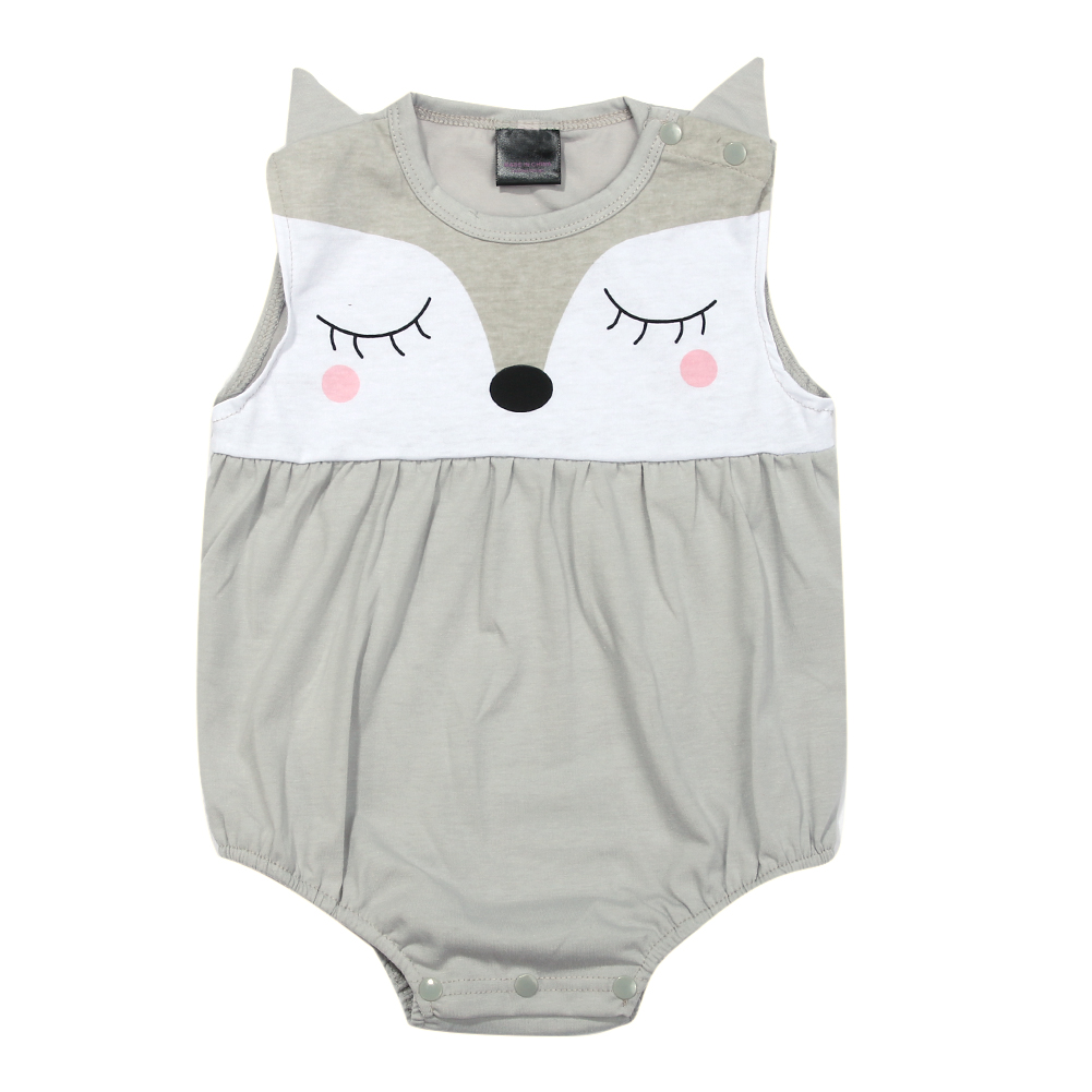 2018 Newborn Baby Girl Clothes one-pieces Jumpsuits Baby Clothing Cartoon Fox Pattern Cotton Rompe Infant Girl Clothes