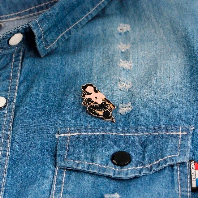 Фото женская пляжная брошь черная сексуальная для невесты значок