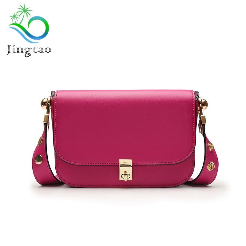 2018 new high-end custom leather bag with a big Bean Bag Fashion Leather Shoulder Messenger Bag Small bags for women handbag