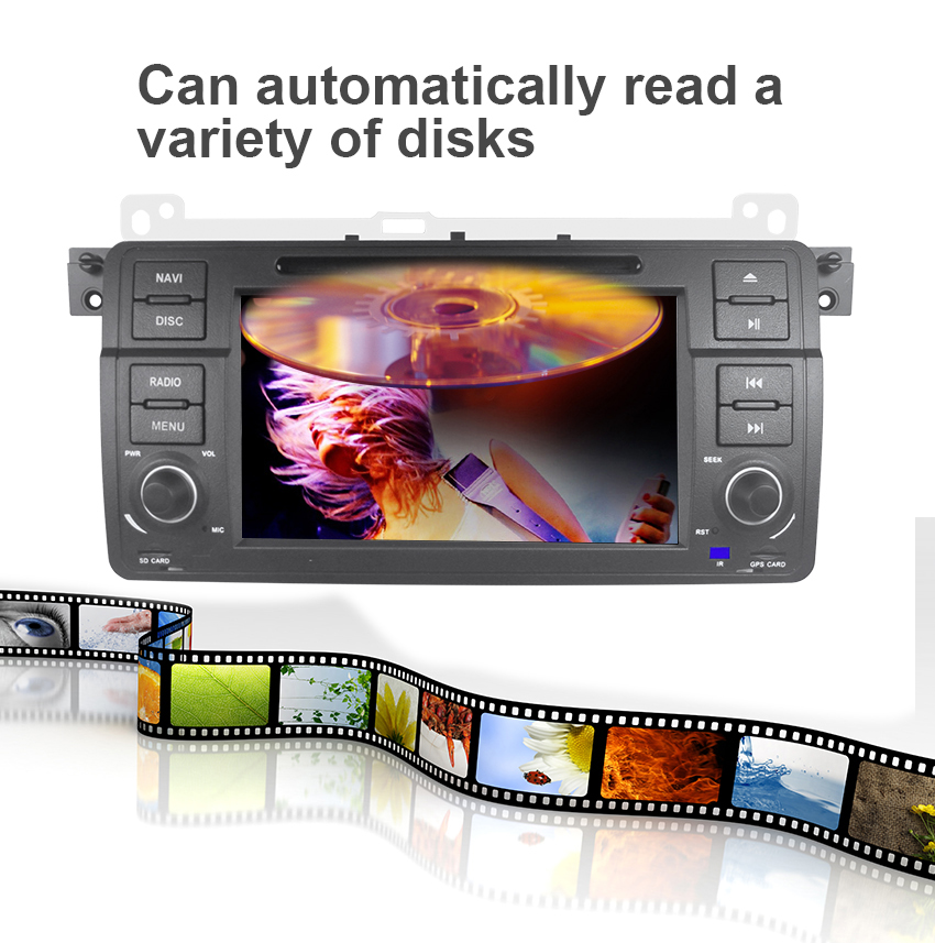 9 Koason 9 inch Android System 7.1.1 Car Media Player GPS Navigation With disc Stereo for BMW E46 1998-2005