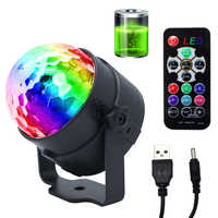 LED Disco Ball Party Lights 3W Sound Activated DJ Stage Lights for Birthday Decorations Home Karaoke Dance Club Party Lights