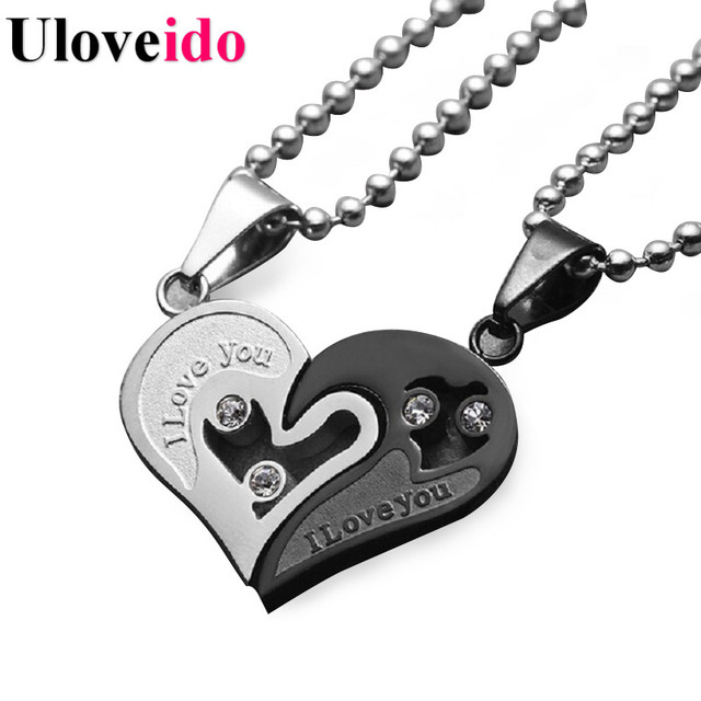 Stainless Steel Chain Black Heart