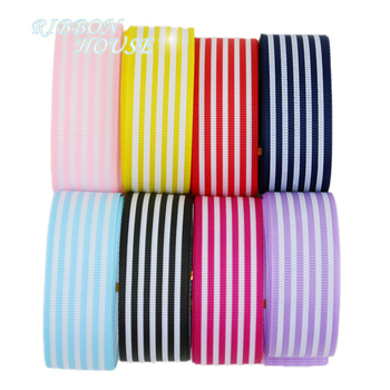 Cinta de otomán a rayas de 1 pulgada (6 colores mezclados), cinta de papel de regalo impreso, cintas de decoración