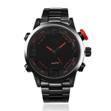 Men's Quartz Watches Sport Luxury Brand Men 's Fashion Men' s Large Dial Stainless Steel Strap Digital Army Military Watches