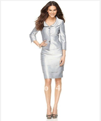 c8b766f7b Women's Suit Tailor Custom Women Suit Three Quarter Sleeve Jacket & Tiered  Skirt Women Suit Women's