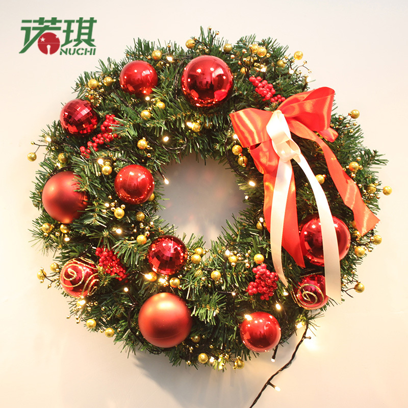Us 99 6 Nuoqi 2015 New Christmas Wreath Christmas Rattan Ring Butterfly Painted Balls Christmas Decorations Ornaments Door In Christmas From Home