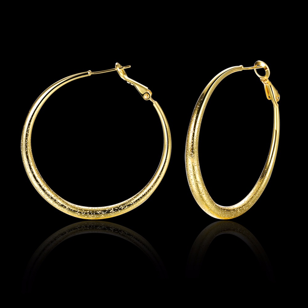 Personality Big Round Earrings Basketball Wives Trendy Gold Color Fashion Jewelry 41mm Diameter Large Hoop Earrings Women